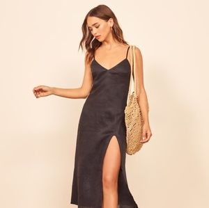 REFORMATION BRIANNA DRESS SZ 8 BLK